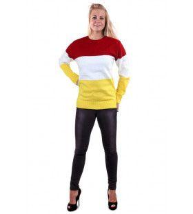 Gebreide Sweater Oeteldonk Rood Wit Geel