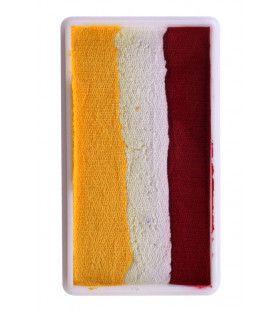 Splitcake Block Make-Up Geel Wit Rood 28 Gram