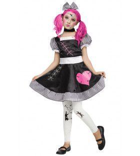 Porseleinen Gebroken Pop Halloween Meisje Kostuum