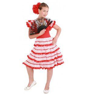 Strokenjurk Flamenco Sevilla Meisje