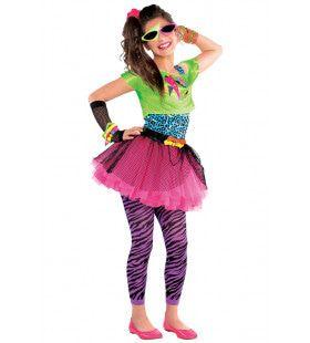 Blits Jaren 80 Madonna Disco Meisje Kostuum