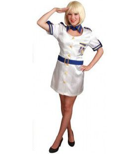 Love Boat Stewardess Hostess Vrouw Kostuum