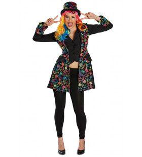 Jas Hippie Multicolour Bloemen Vrouw