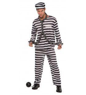 Gevangenis Boef Zware Jongen Man Kostuum