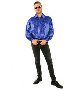 Ruchesblouse Baas Van De Dansvloer Koningsblauw Man