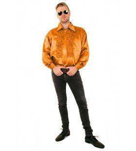Ruchesblouse Baas Van De Dansvloer Oranje Man