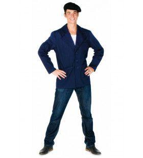 Boeren Jas Platteland Blauw Man