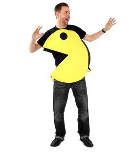 Geel Happertje Pacman Computerspel Kostuum