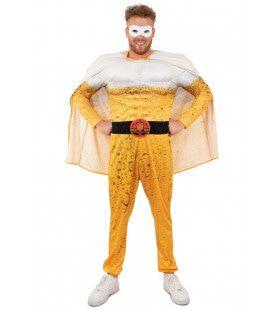 Superheld Super Pils Man Kostuum