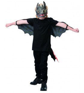 Toothless Tandloos Bijtkwijt Draak Vleugels En Masker