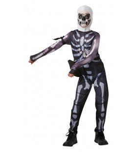 Skull Trooper Fortnite Tiener Kind Kostuum