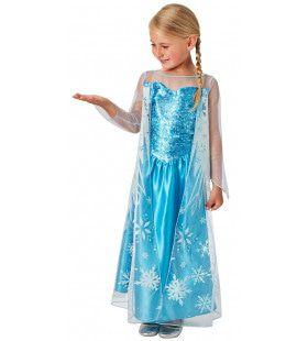 Elsa Frozen Sneeuwkristallen Meisje Kostuum