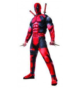 Deadpool Deluxe Superheld Man Kostuum