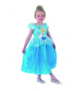 Hemelsblauw Cinderella Storytime Sprookjes Meisje Kostuum