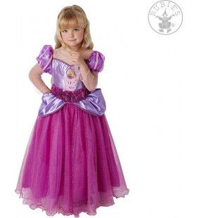 Mooie Roze Paarse Rapunzel Bevrijd Uit Het Kasteel Meisje Kostuum