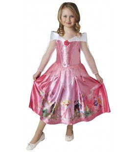 Dromen Komen Uit Schone Slaapster Roze Prinses Meisje Kostuum