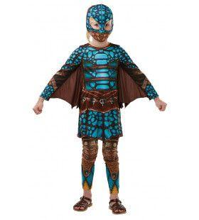Megastoere Astrid Staat Vooraan De Drakenstrijd Meisje Kostuum