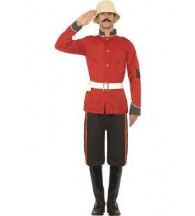 Engelse Victoriaanse Soldaat Man Kostuum