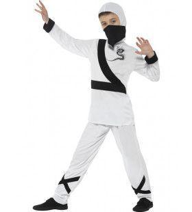 Sneeuwwitte Winter Ninja Jongen Kostuum