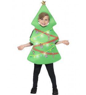 Vrolijk Dansende Kerstboom Kind Kostuum