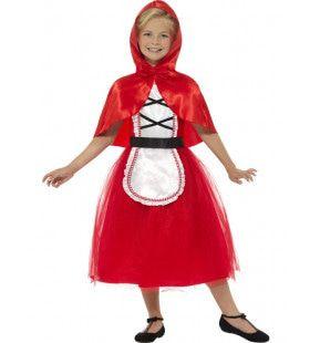 Glanzende Roodkapje Meisje Kostuum