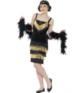 Gouden Jaren Twintig Flapper Vrouw Kostuum