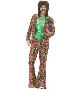 Vol Van Vrede Hippie Man Kostuum