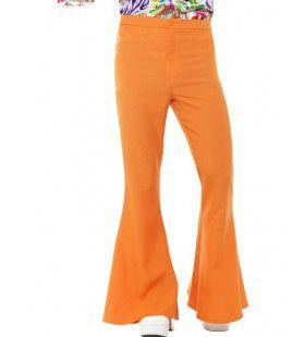 Oranje Disco Broek Wijde Pijpen Man
