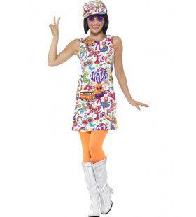 Nice Trip Hippie Vrouw Kostuum