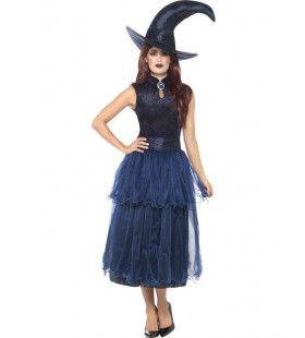 Duistere Middernacht Toverkol Vrouw Kostuum