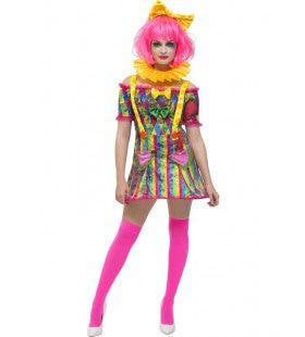 Sexy Patchwork Clown Vrouw Kostuum