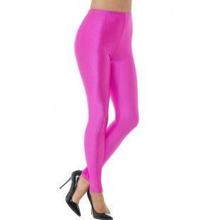 80s Disco Spandex Legging Roze Vrouw