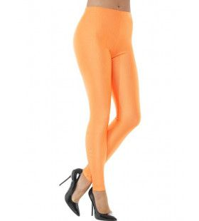 80s Disco Spandex Legging Oranje Vrouw