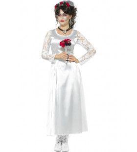Maagdelijk Witte Spook Bruid Vrouw Kostuum