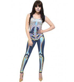 Dead Can Dance Skelet Vrouw Kostuum