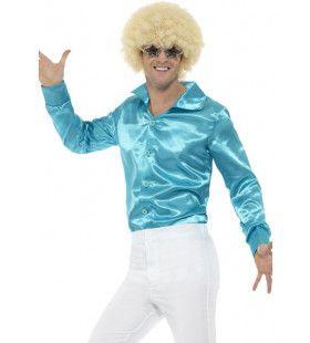 Lekker Krap Blauw Jaren 70 Disco Man