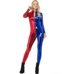Keistrak Bodysuit Harlekijn Vrouw Kostuum