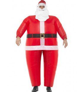 Opblaasbare Bolle Kerstman Kostuum