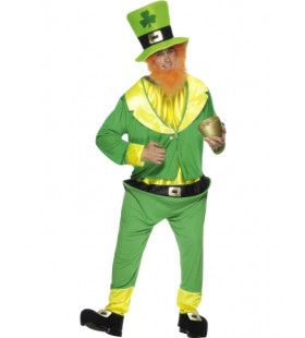 Paddy Leprechaun Ierse Dwerg Man Kostuum