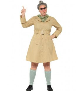 Roald Dahl Miss Trunchbull Juf Agatha Bulstronk Vrouw Kostuum