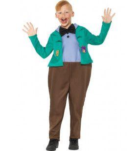 Roald Dahl Sjakie En De Chocoladefabriek Augustus Gloop Casper Slok Jongen Kostuum