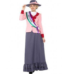 Victoriaanse Suffragette Vrouwenkiesrecht Voorvechter Kostuum