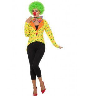 Kleurrijke Circus Jas Met Brede Revers Vrouw