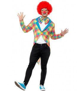 Pastel Ruitjes Circus Clown Jas Man