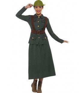 Engelse Tweede Wereldoorlog Soldaat Vrouw Kostuum