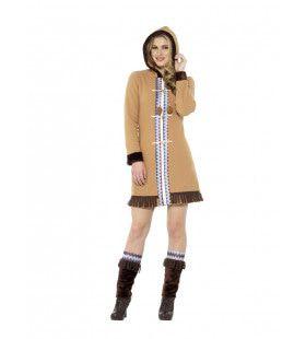 Noordpool Eskimo Koude Benen Vrouw Kostuum