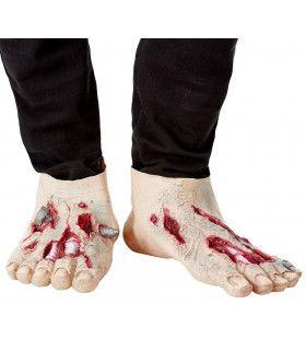 Doorboorde Zombie Voeten Halloween