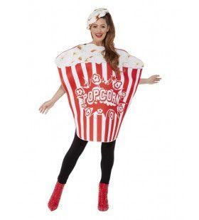 Popcorn Bak Kostuum Vrouw
