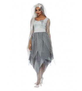 Zilveren Kerkhof Schoonheid Vrouw Kostuum