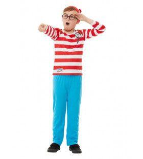Waar Is Wally Verstopt Jongen Kostuum